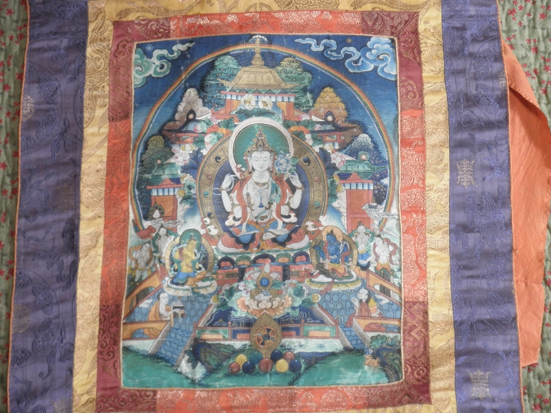 Wall Hanging w/ Buddhist Motif
